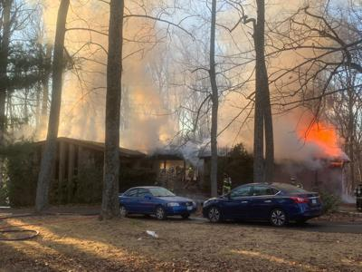 Wolfsville area home catches fire