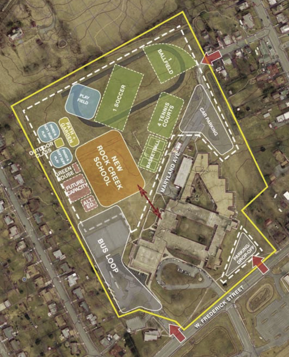 Info Post Site: Walkersville Middle Recommended As Site For New Rock Creek