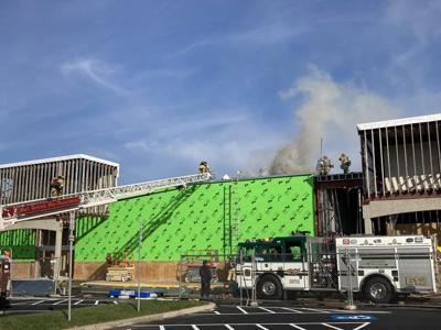 Former Kmart catches fire