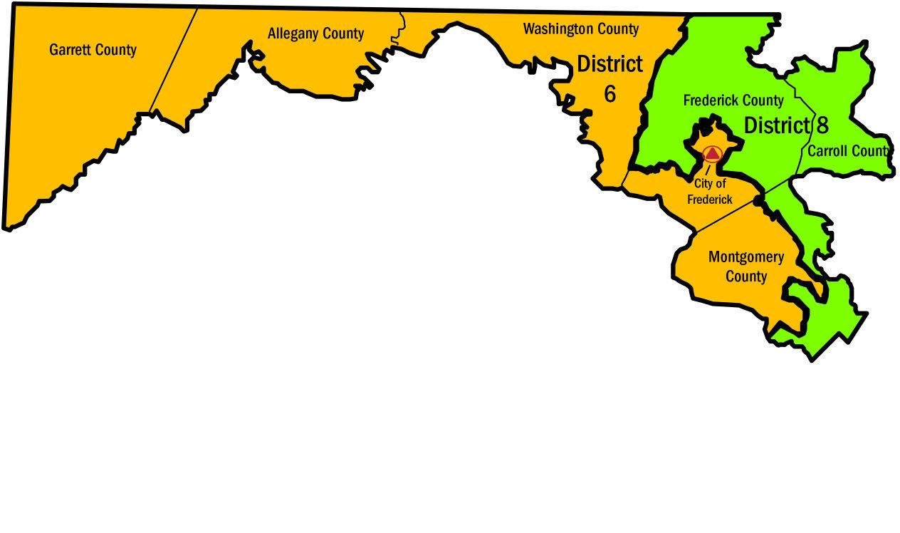 Frederick County Md Zip Code Map.Frederick County Could Return Completely To 6th District Elections