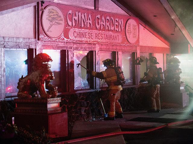 China Garden fire 2