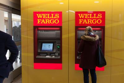 A Customer Uses An Automatic Teller Machine Inside Wells Fargo Co Bank Branch In New York On Jan 5