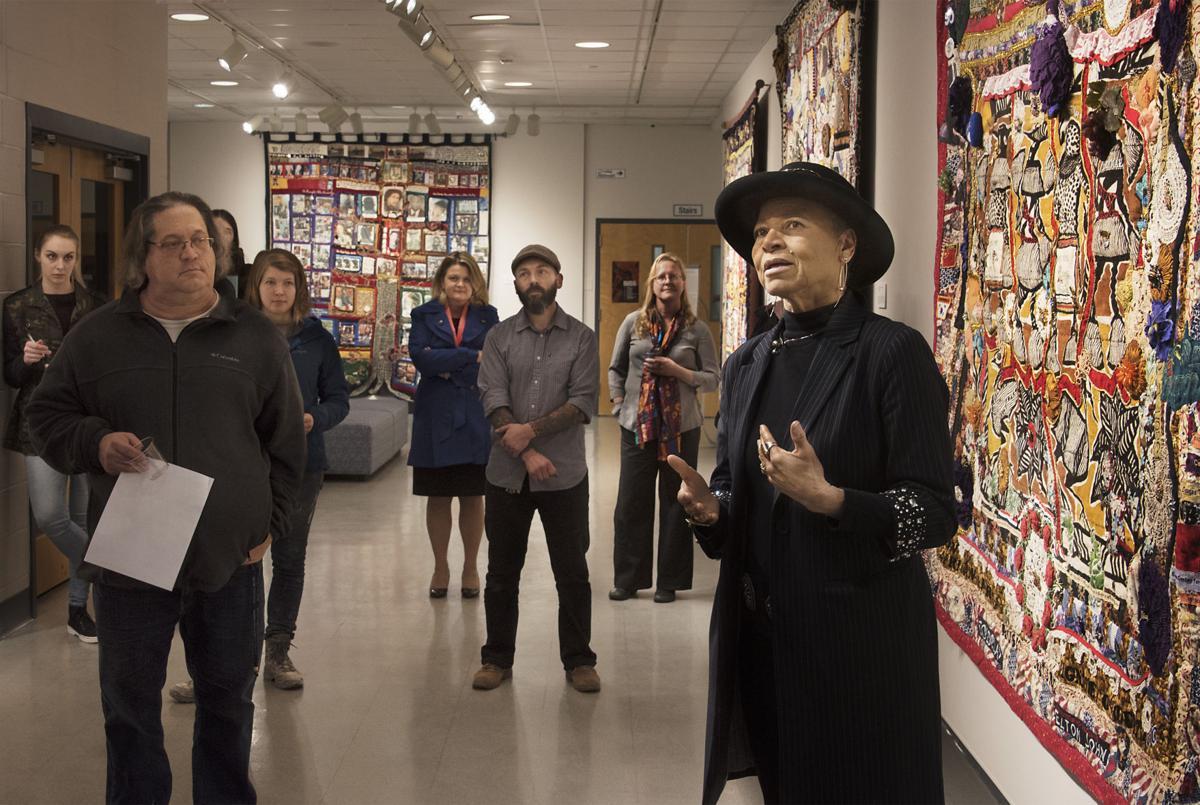 Joan M.E. Gaither quilt exhibit at Hood