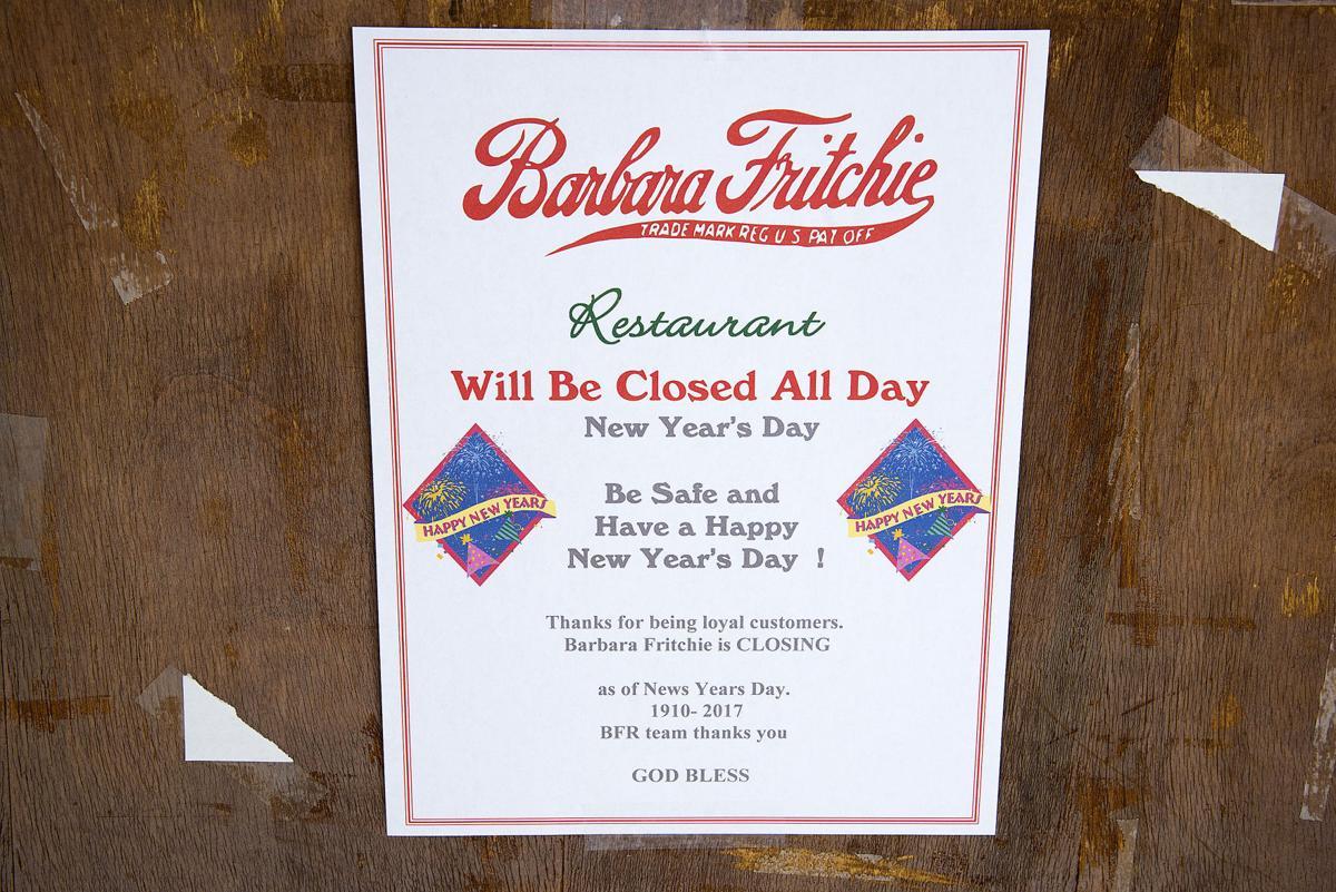 Local landmark Barbara Fritchie Restaurant closes after 107