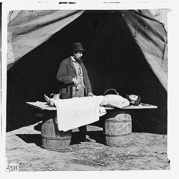 Embalming Surgeon embalming a body