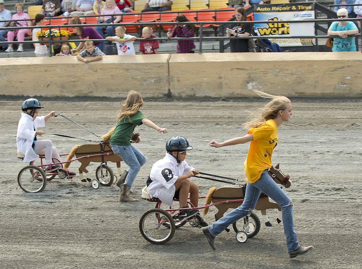 Pedal powered harness racing