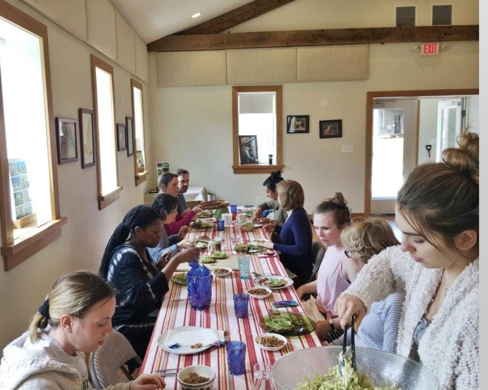 Relax and enjoy a nourishing dinner at Fox Haven