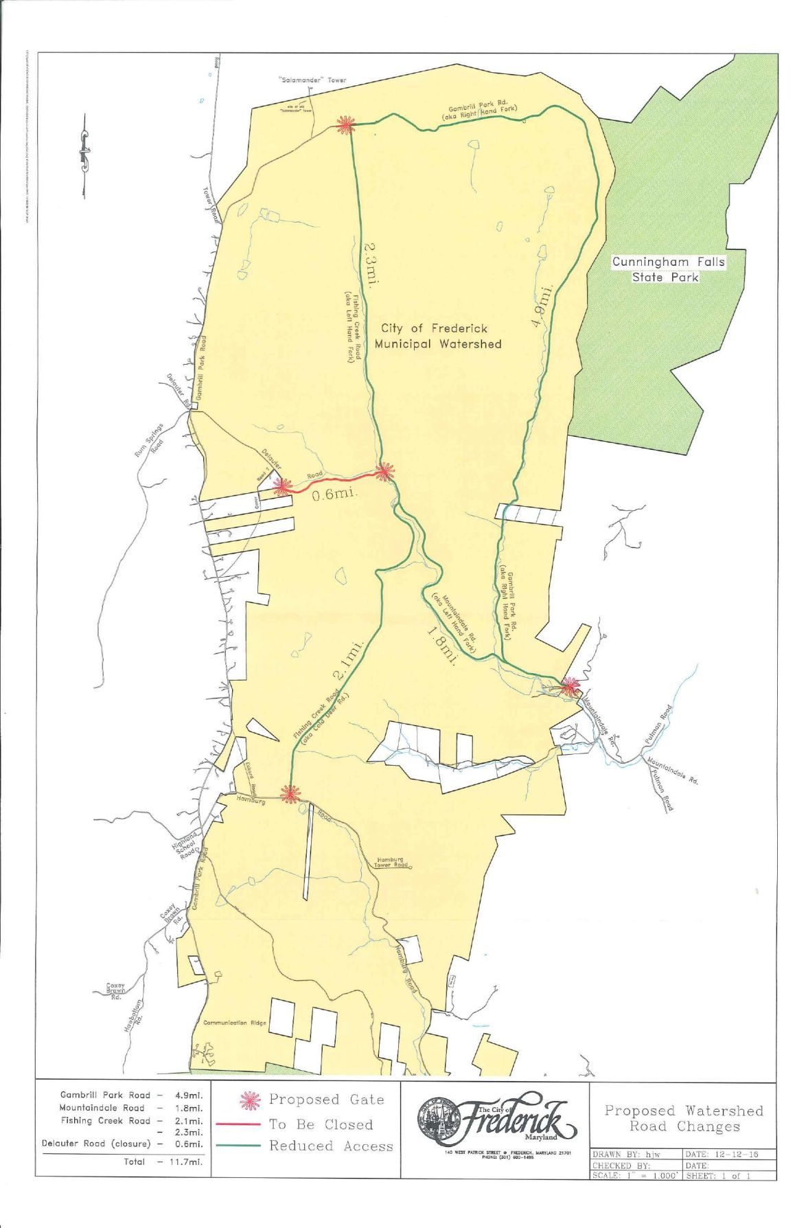 Map of proposed watershed road transfers fredericknewspostcom