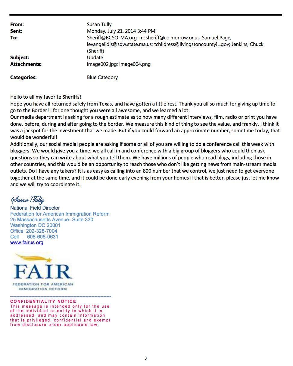 Jenkins FAIR Email 2