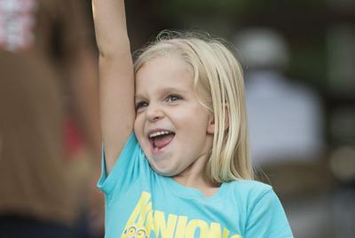 Going for gold: Girl wins carnival goldfish (copy)