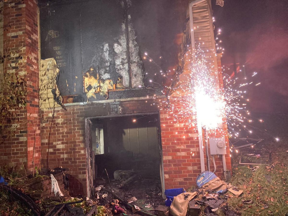 Home burns in Monrovia