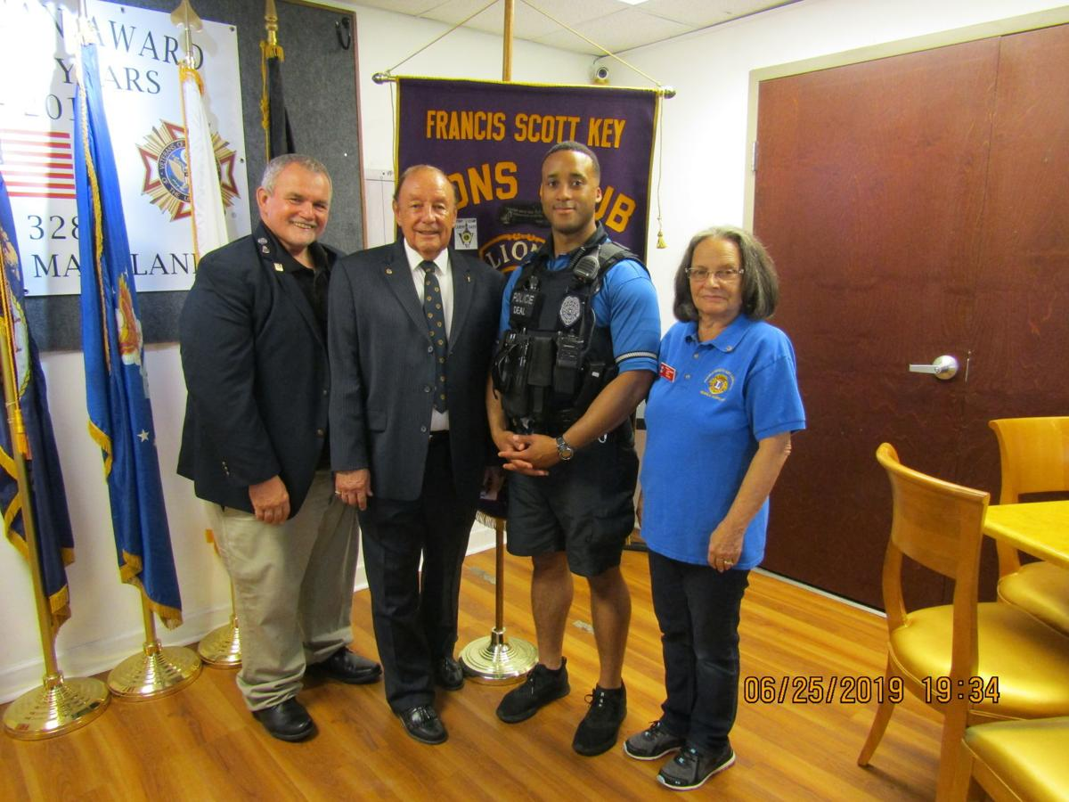 FSK Lions' Operation Blue Thank You Officer for June
