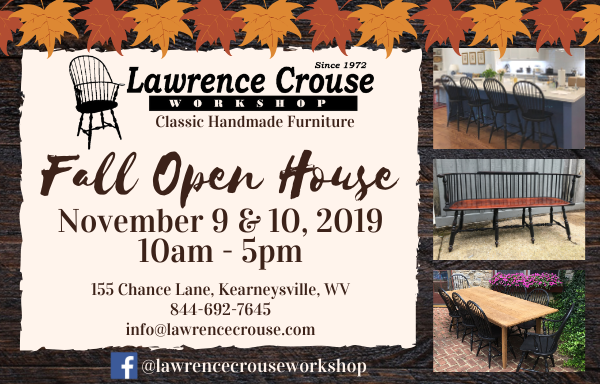 Lawrence Crouse Workshop Fall Open House