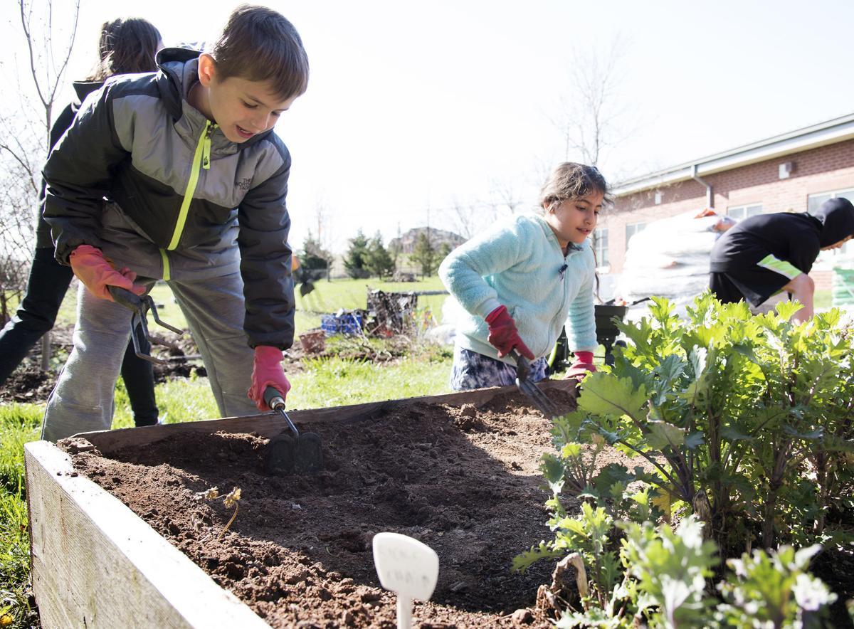 DG Students gardening @ Centerville ES 3