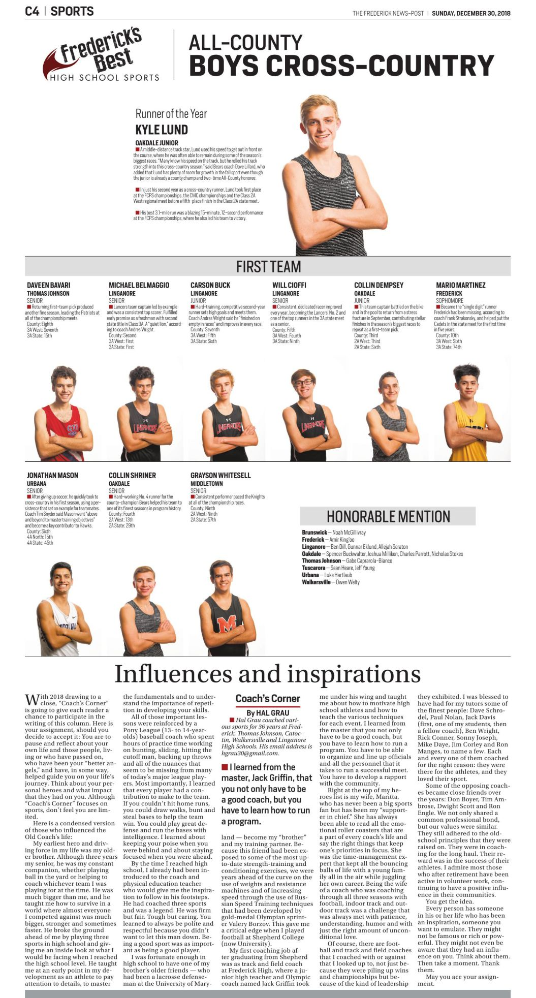 2018 All-County Boys Cross-Country