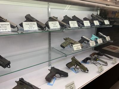 Guns at Rockville shop