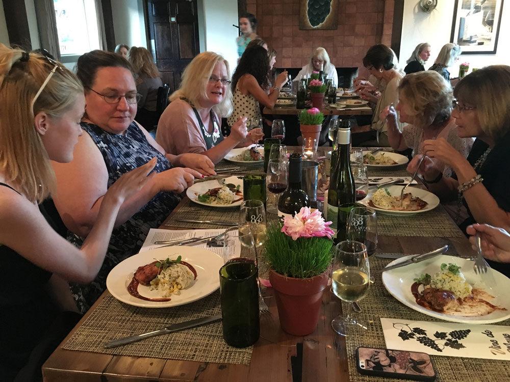Women's wine dinner at 868 Estate