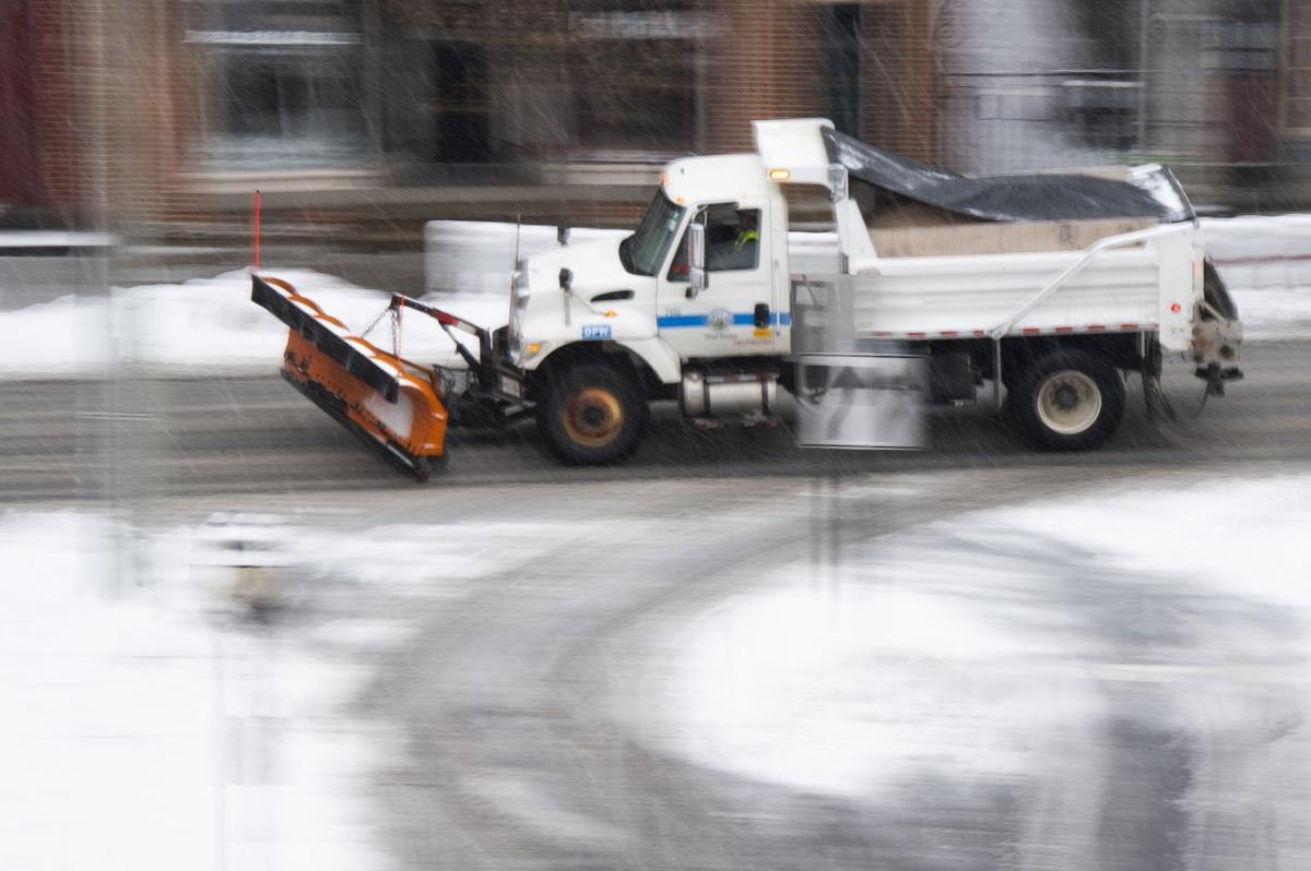 Downtown snow plow