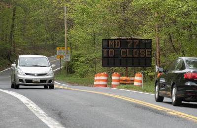 MD 77 to close sign