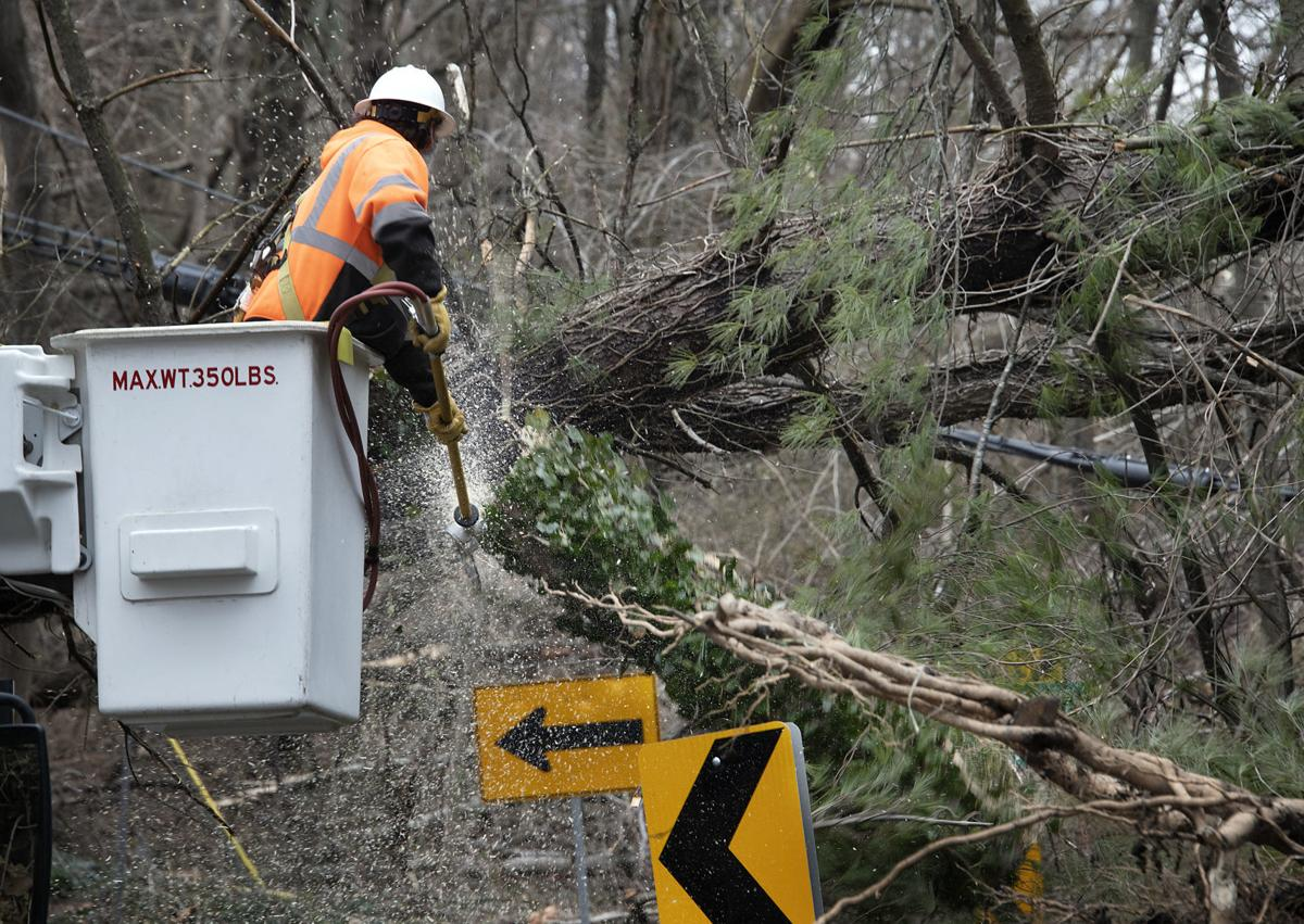 Storm damage closes Old Bartholows Rd.