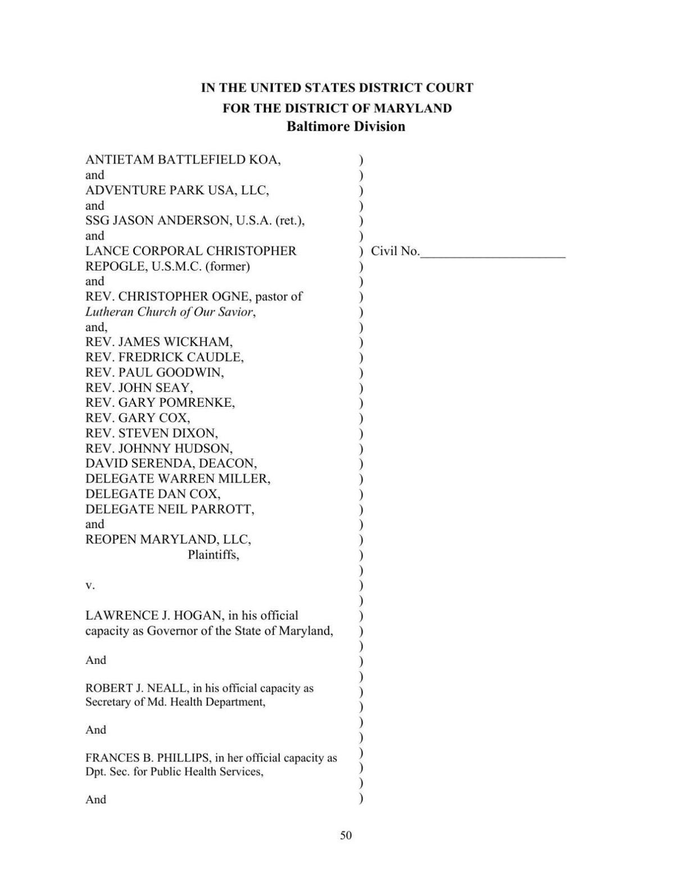 Dan Cox lawsuit against Gov. Hogan