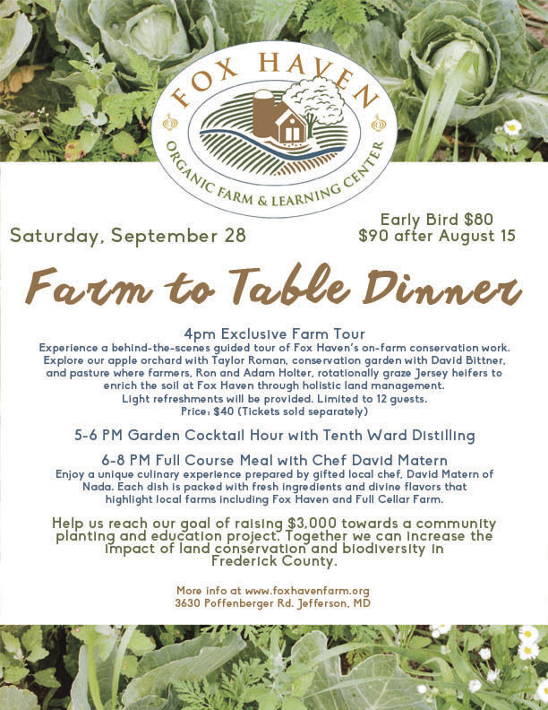 Fox Haven Fall Farm Dinner (Sept 28th)
