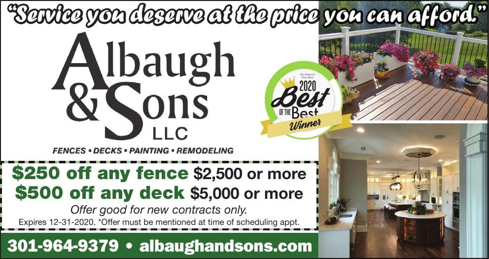 Albaugh & Sons special discounts