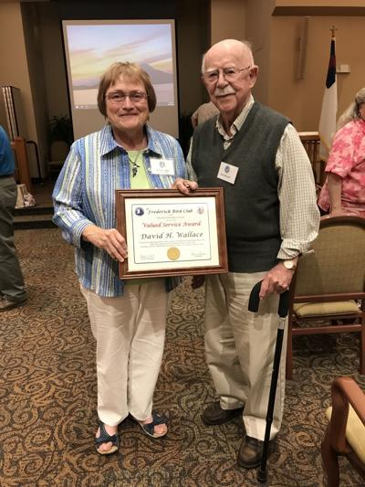 Receives award for dedication to birds and bird watching