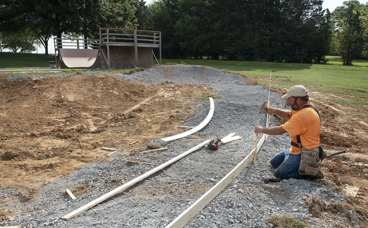 New pump track in Urbana 2