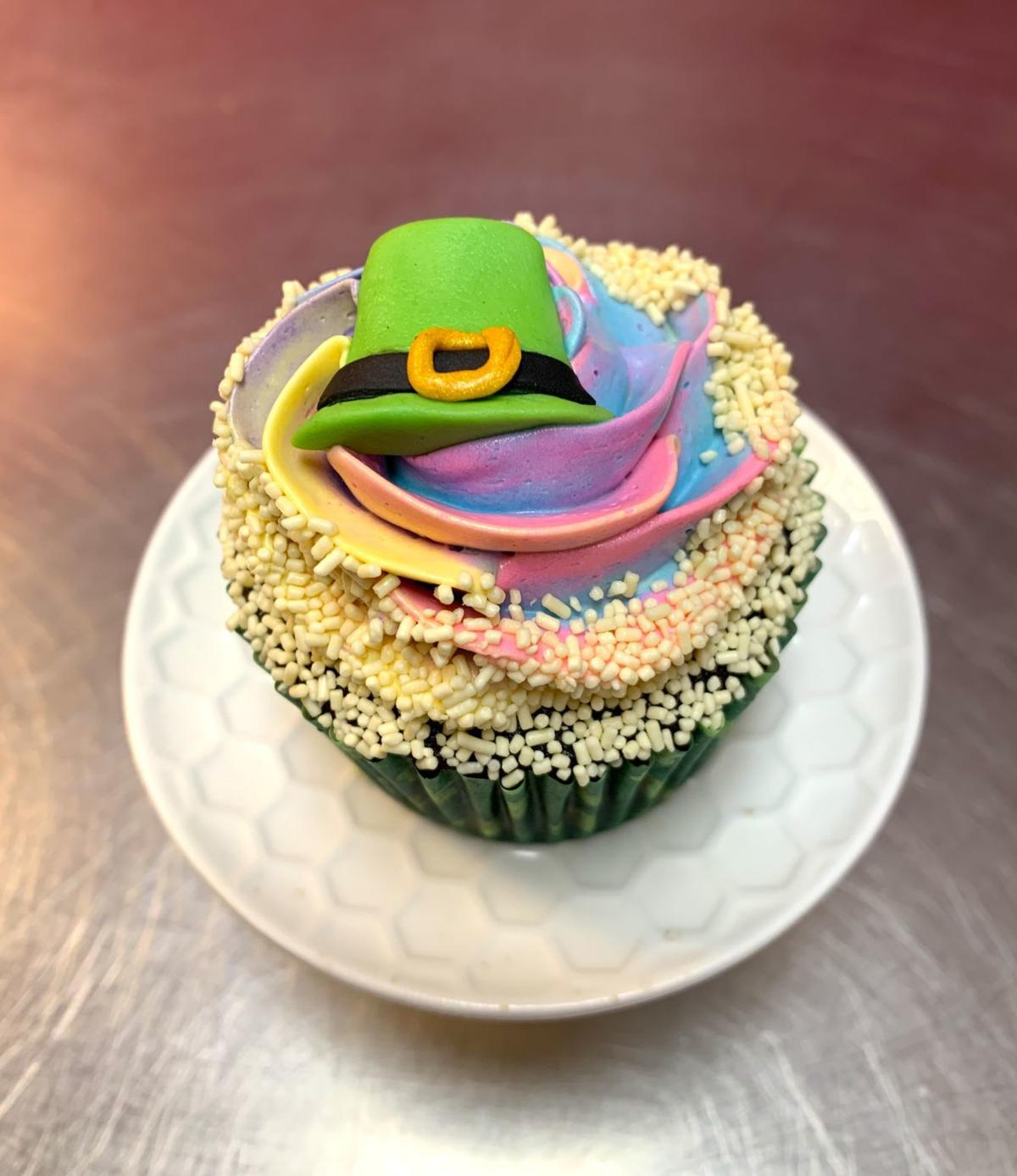 Denise Anthony St. Patrick's Day cupcake