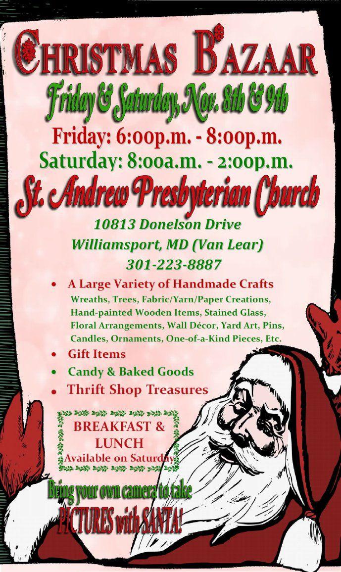 St Andrew Presbyterian Church Christmas Craft Bazaar