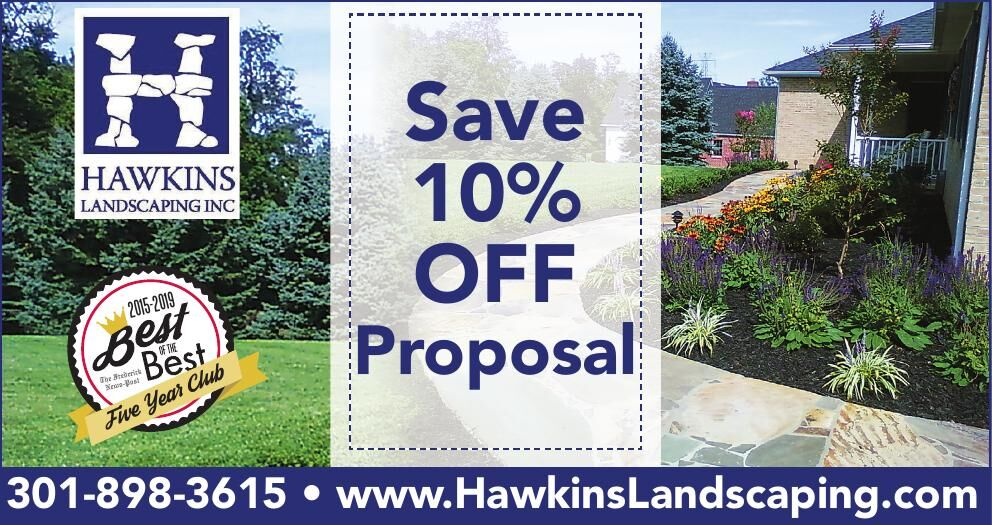 Hawkins Landscaping 10% off