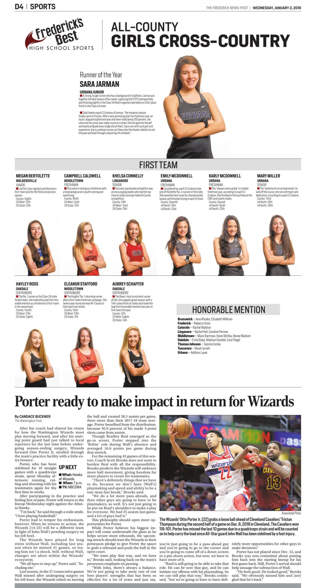 2018 All-County Girls Cross-Country
