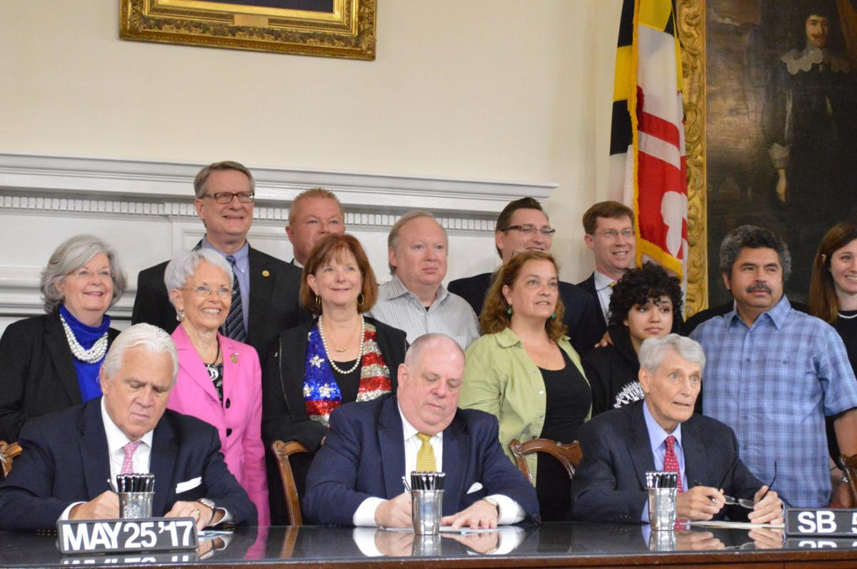 Emily Godbey's family at bill signing