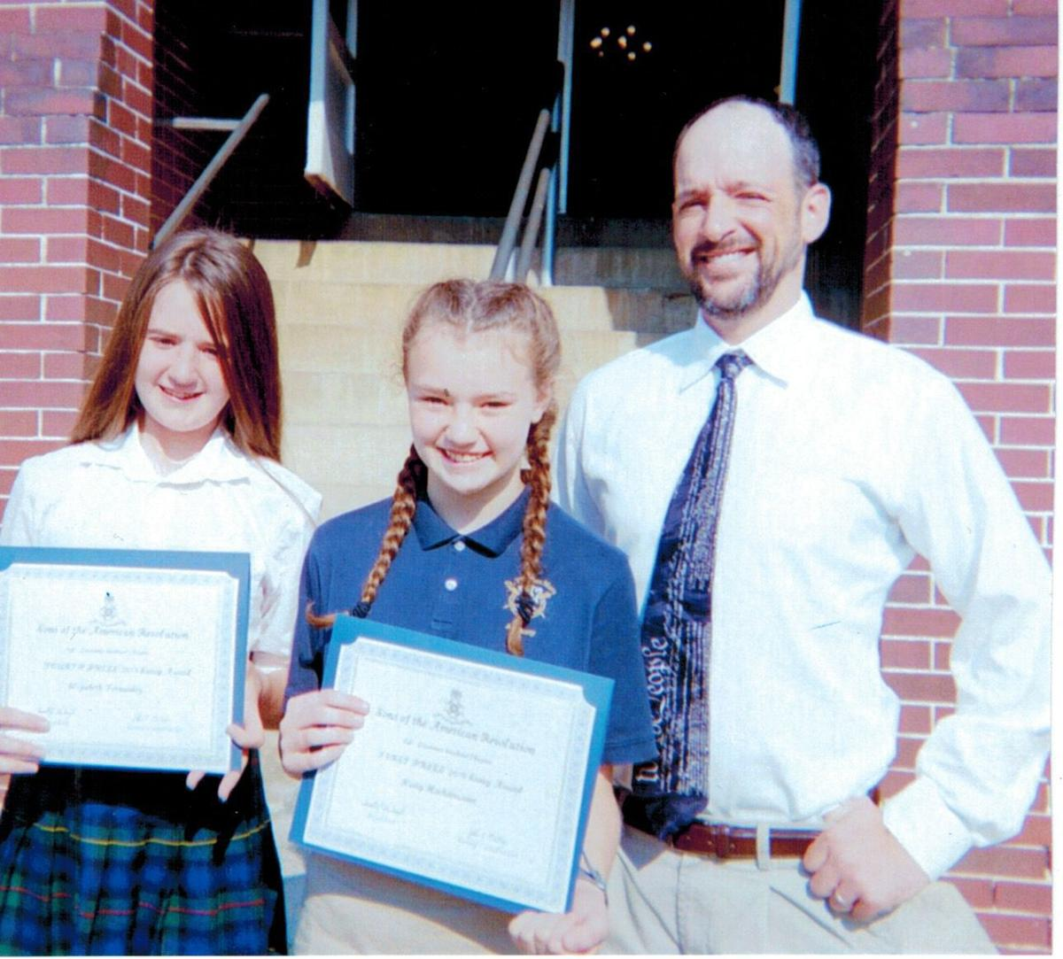 Essay contest winners from St. Thomas More Academy