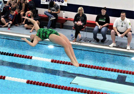 Central swimming gets wins over Lewis Cass