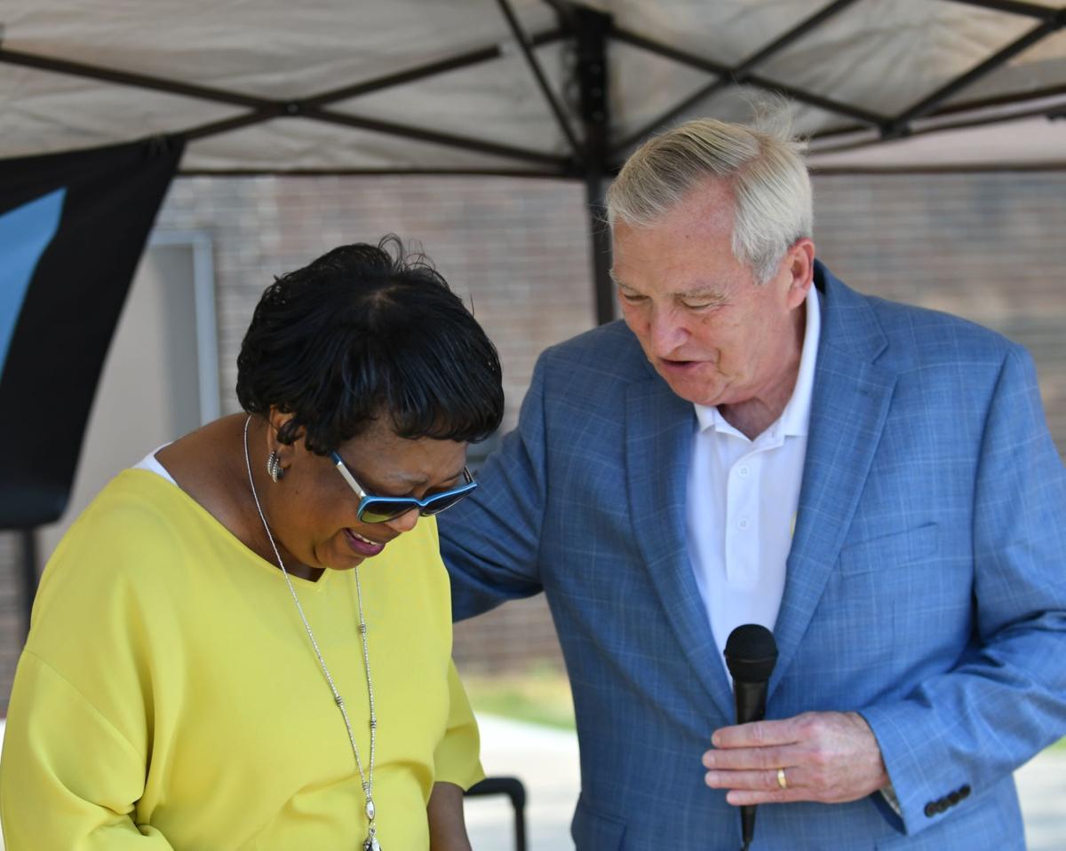 Robinson with the mayor