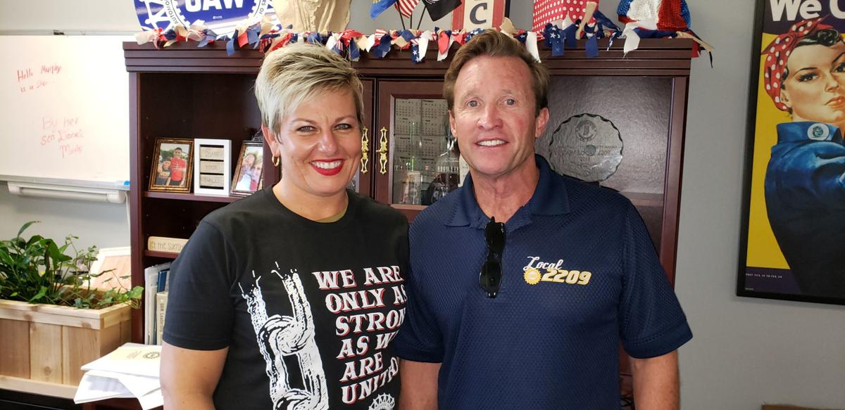 Holli Murphy, UAW Local 2209 president, and Rich LeTourneau, shop chairman