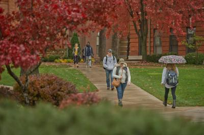 Trine University in the fall