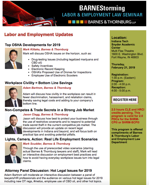 BARNEStorming unites law firm, Indiana Tech | Fwbusiness