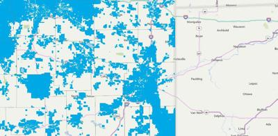 Indiana Broadband Map updated by Indiana Office of Technology
