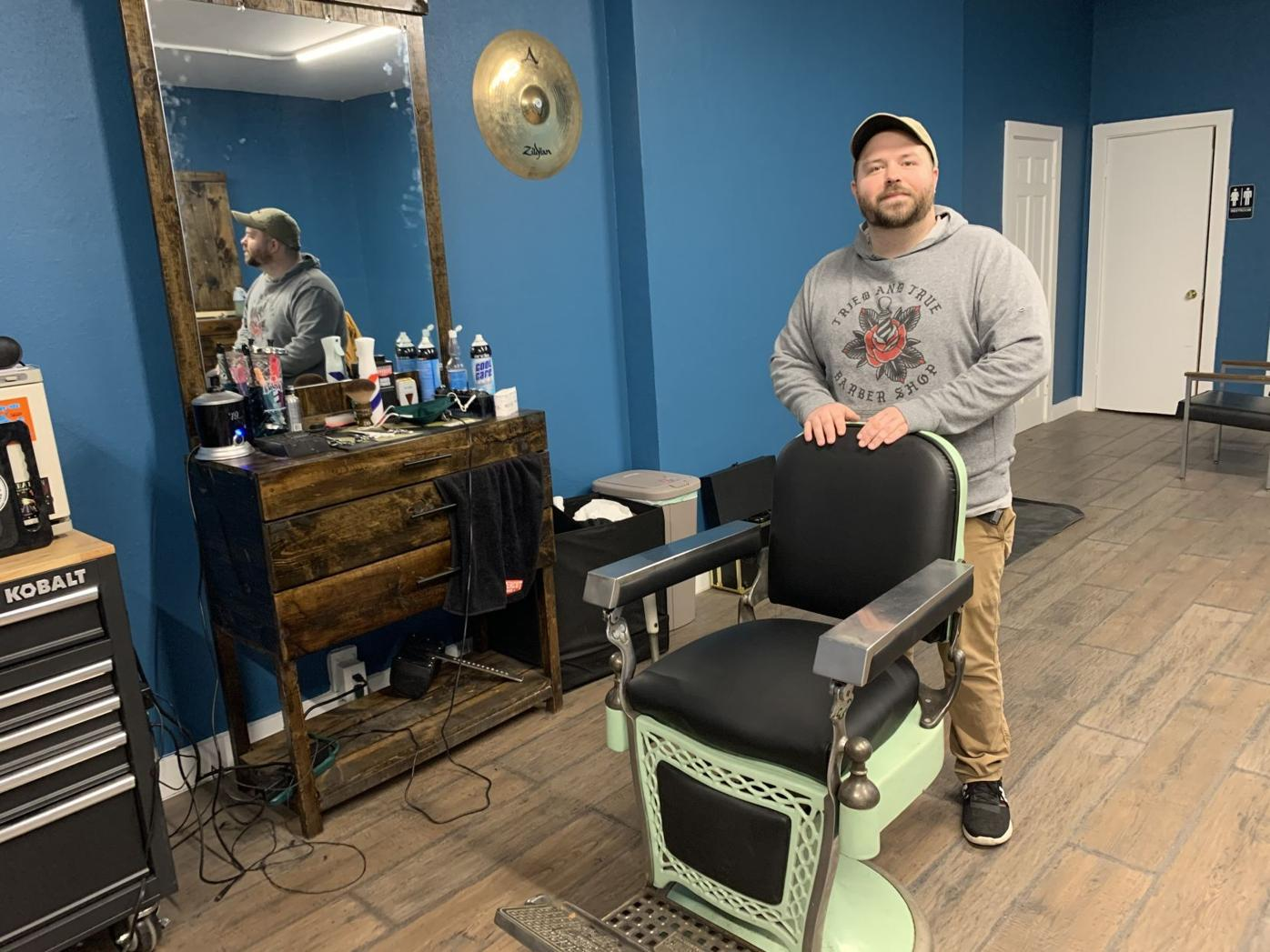 Zach Allen, owner of Silver Lining Barbershop