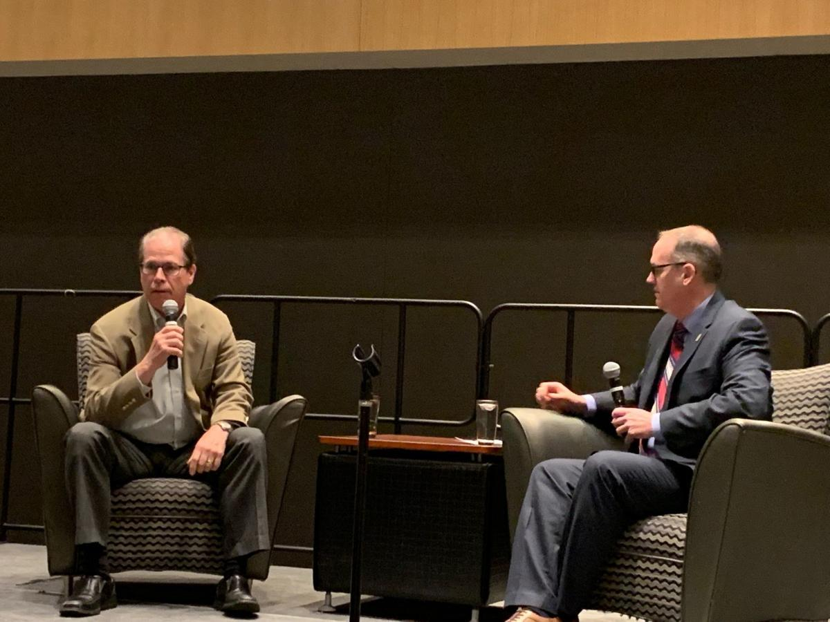 Indiana Sen. Mike Braun talks tariffs and workforce development with business leaders
