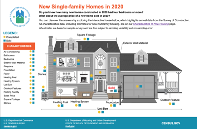 New single-family homes in 2020