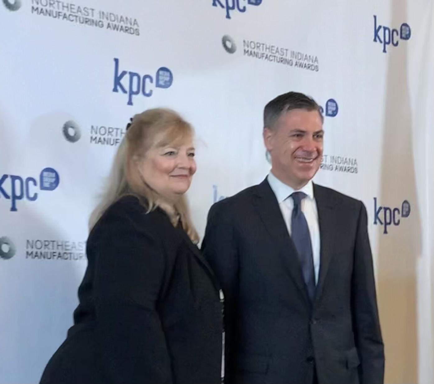 KPC CEO Lou Phelps and U.S. Rep. Jim Banks, R-3rd