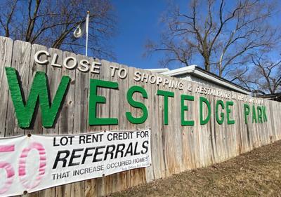 West Edge Park entrance sign