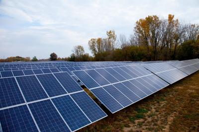 Solar facility shot supplied by Indiana Michigan Power