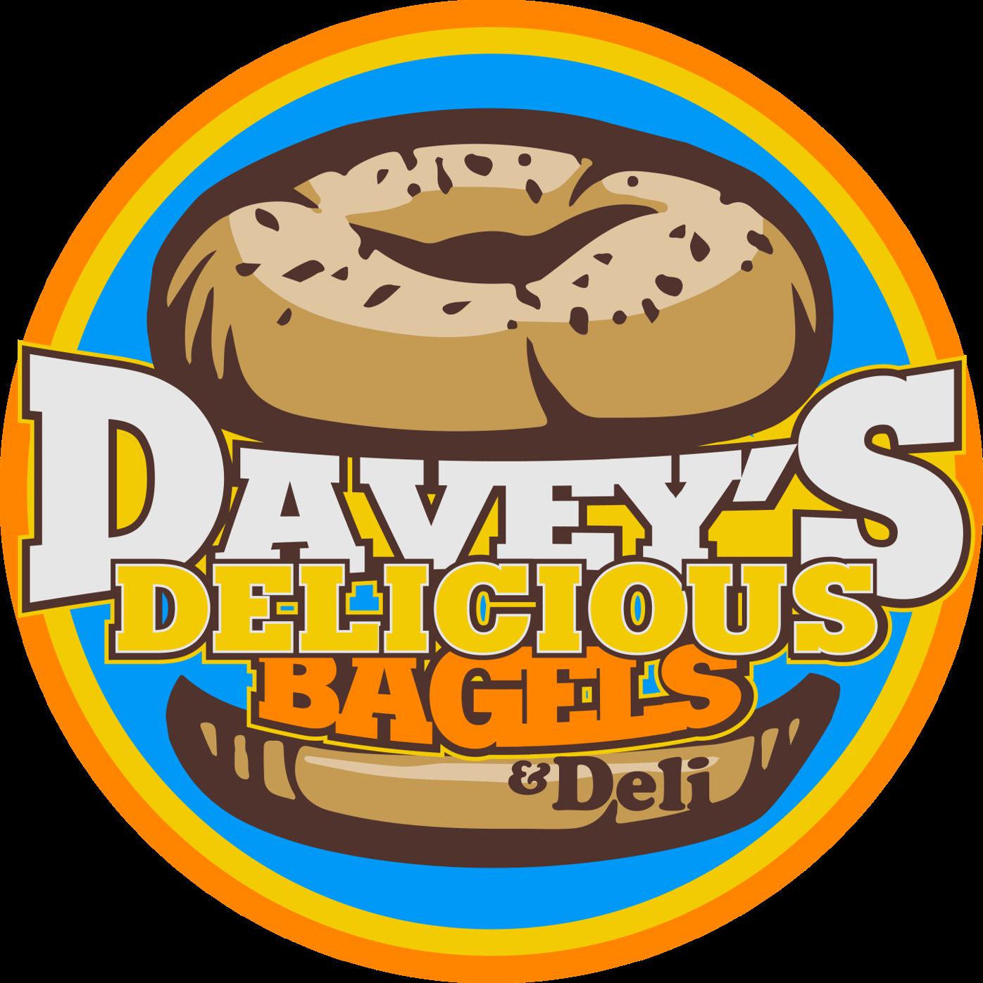 Davey's Delicious Bagels Deli's logo