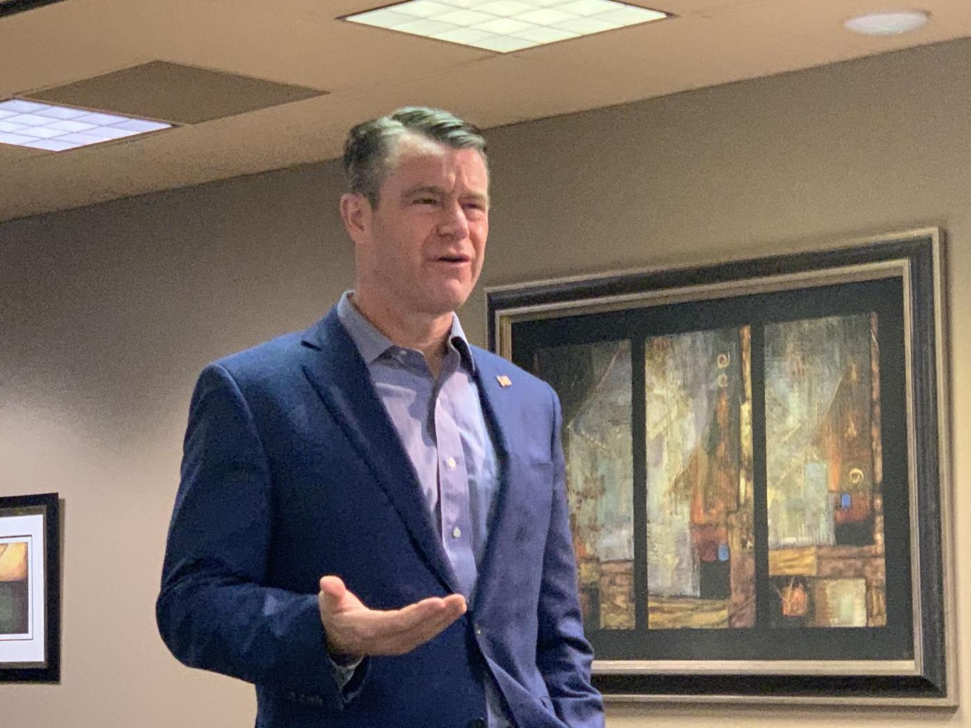 U.S. Sen. Todd Young speaks to economic leaders