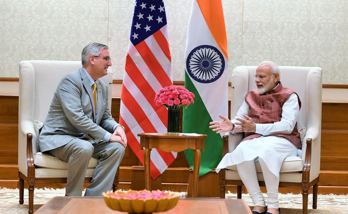 Holcomb meets prime minister